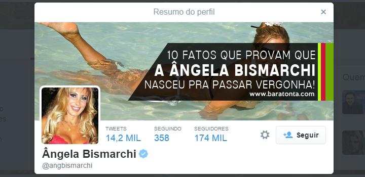 10 fatos que provam que a Ângela Bismarchi nasceu pra passar vergonha