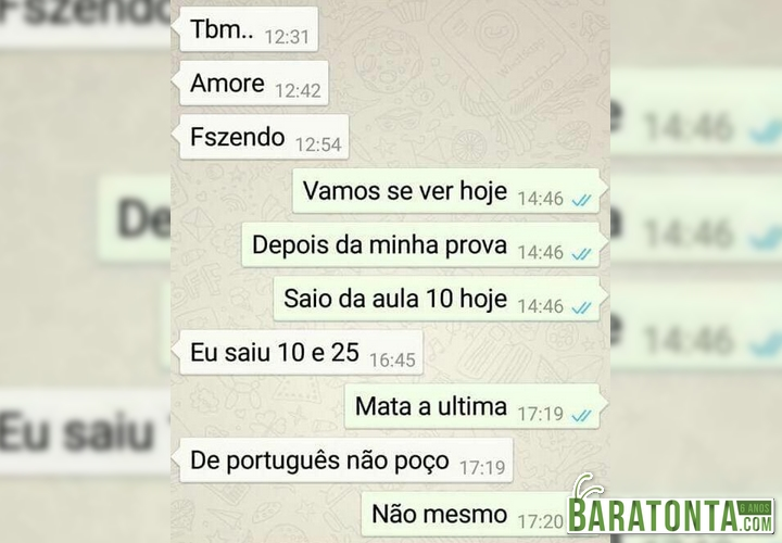 Faltar na aula de português não dá!