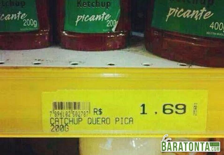 Não vou comprar esse ketchup