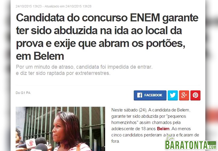 A abduzida do ENEM