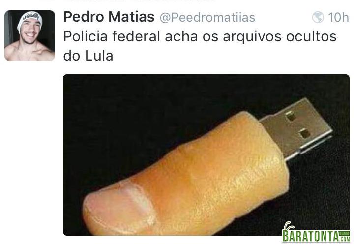 Polícia encontra os arquivos escondidos de Lula
