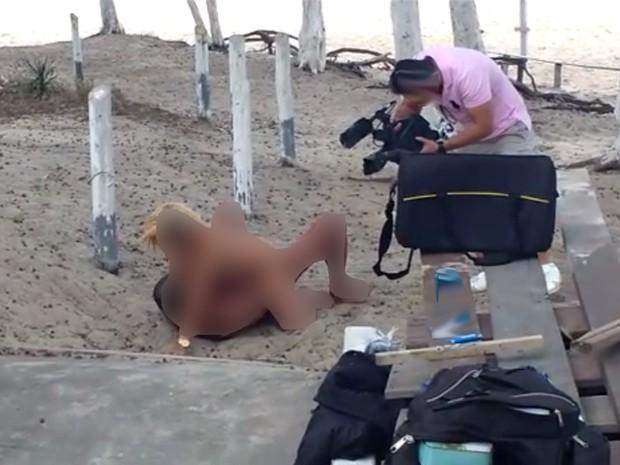 Filme pornô gravado na praia gera polêmica