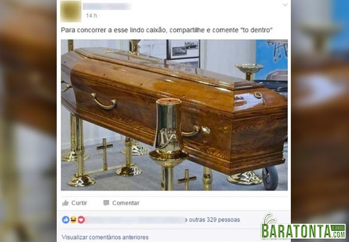 Concorra a este lindo caixão